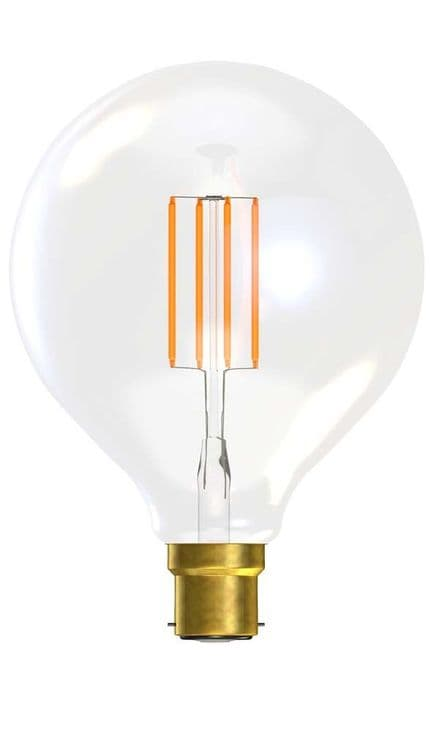 BELL 60138 4W LED Filament Large Globe Clear BC 2700K